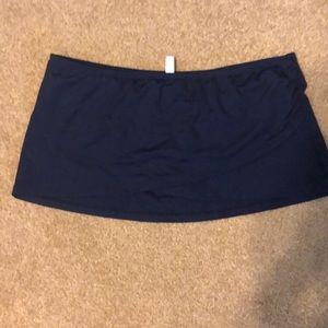 Navy swim skirt